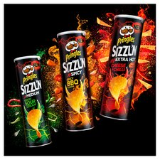 image 3 of Pringles Sizzl'n Extra Hot Cheese & Chilli 180G