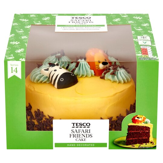 Terrific Tesco Safari Friends Cake Tesco Groceries Funny Birthday Cards Online Eattedamsfinfo