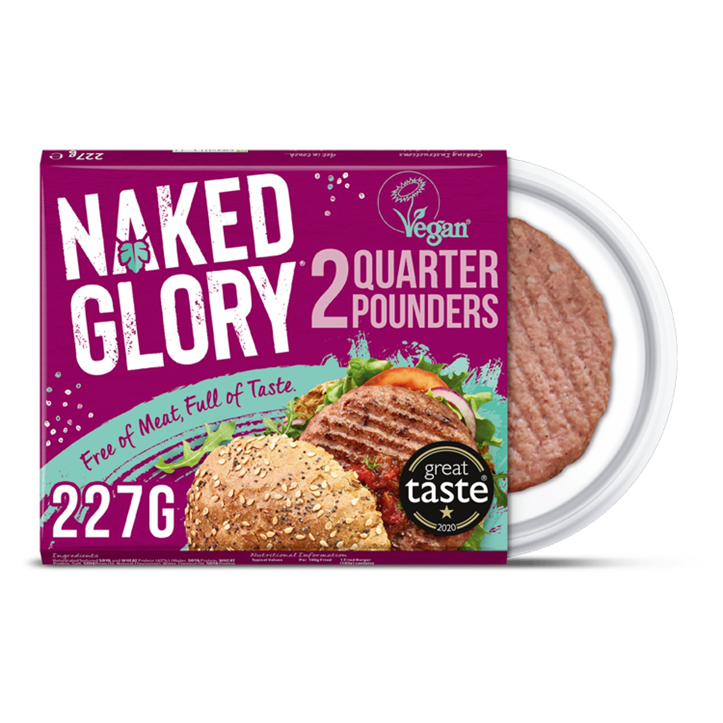 Naked Glory Quarter Pounders 2 Pack 227G