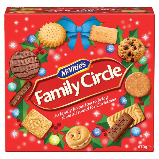 Mcvities Family Circle Biscuits 670g Tesco Groceries