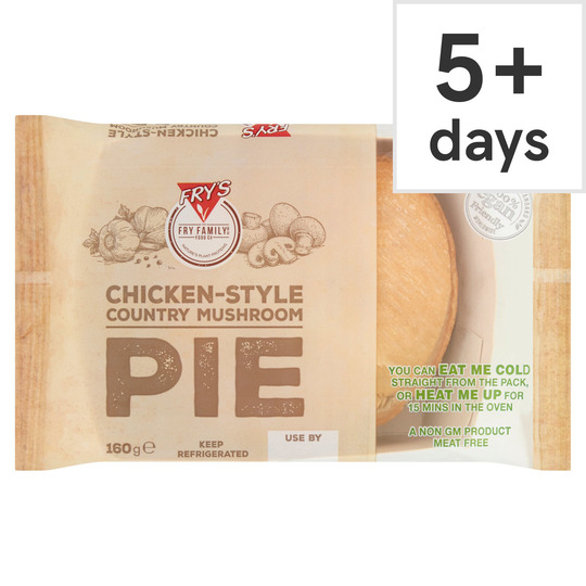 Fry's Meat Free Chicken Style Mushroom Pie 160G