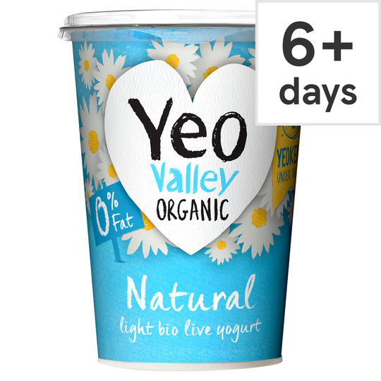 Yeo Valley 0% Fat Natural Yogurt 500G