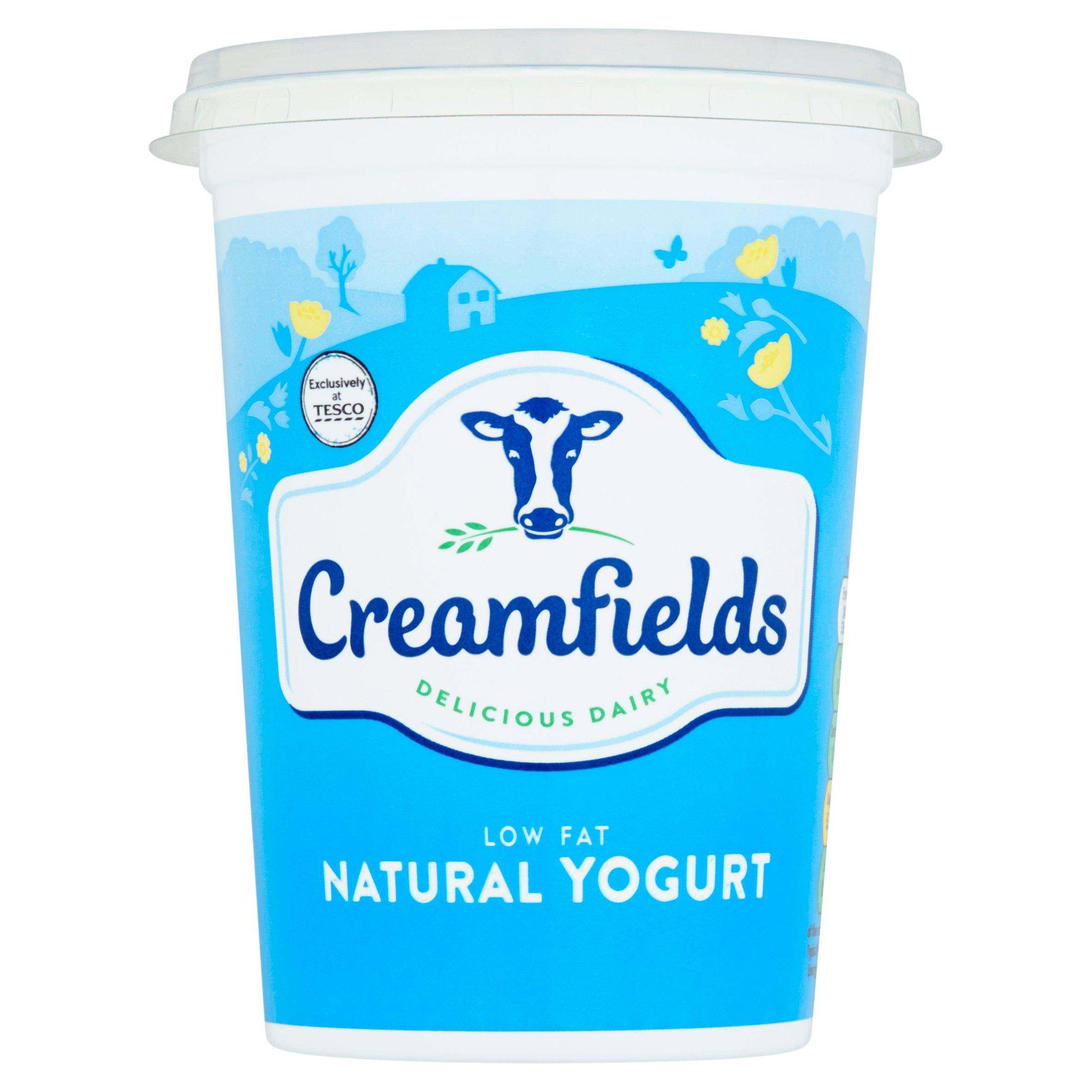 Creamfields Low Fat Natural Yogurt 500G