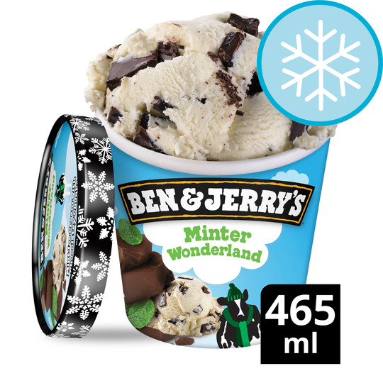 image 1 of Ben & Jerry's Minter Wonderland Mint Ice Cream 465Ml
