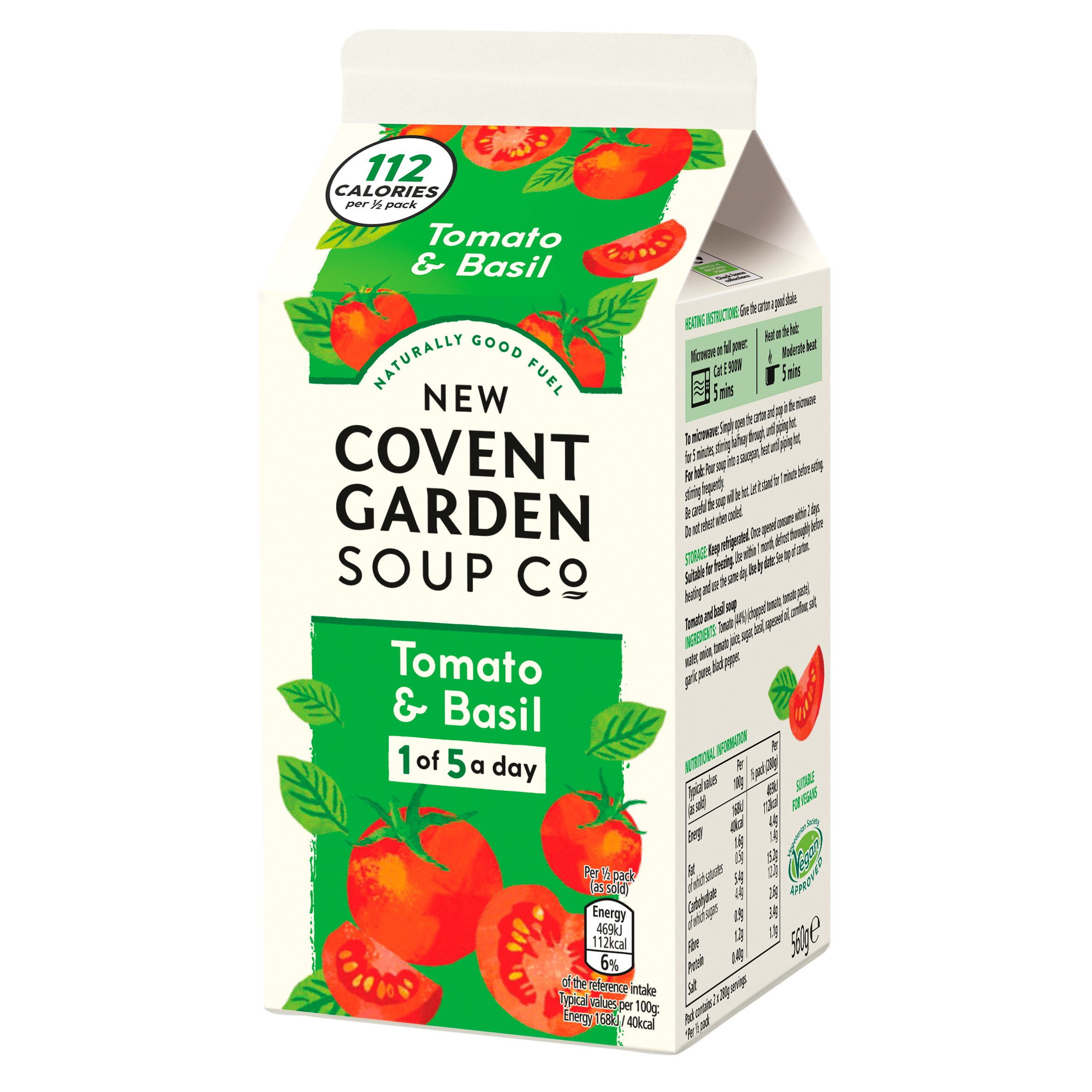 New Covent Garden Tomato & Basil Soup 560G