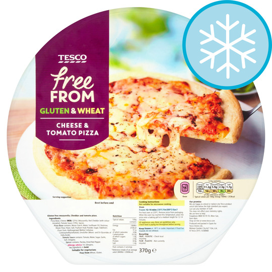 Tesco Free From Cheese Tomato Pizza 370g