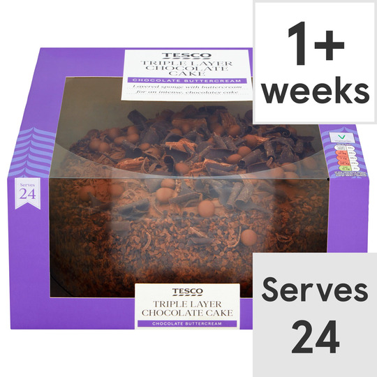 Awe Inspiring Tesco Triple Layer Chocolate Cake Each Tesco Groceries Funny Birthday Cards Online Eattedamsfinfo