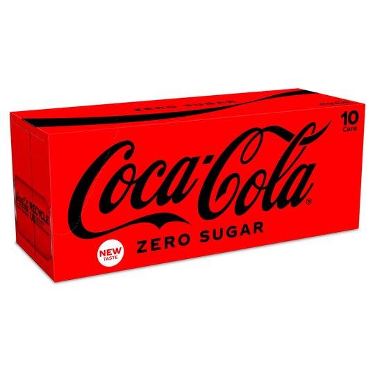Coke Zero 10 X 330Ml - Tesco Groceries