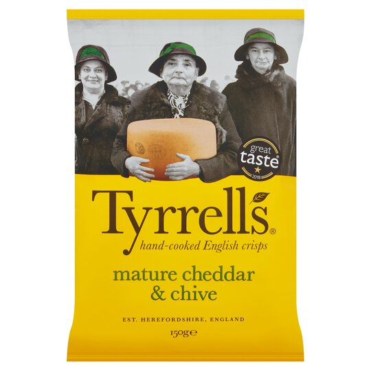 image 1 of Tyrrells Crisps Mature Cheddar & Chive 150G
