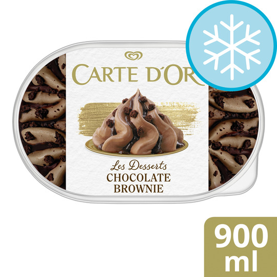 image 1 of Carte D'or Chocolate Brownie Ice Cream 900Ml