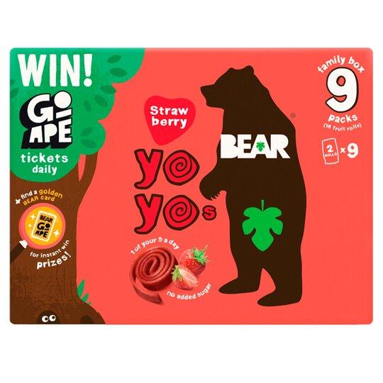 Bear Pure Fruit Yoyo Strawberry 9X20g