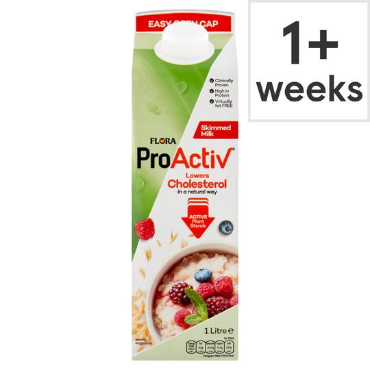 Flora Pro Activ Skimmed Milk 1L