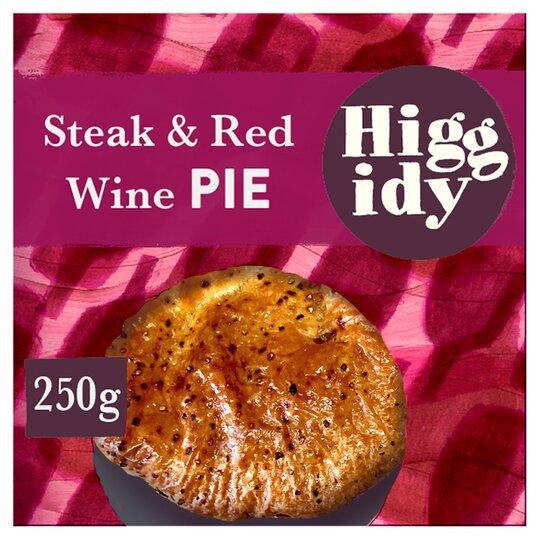 Higgidy Steak & Red Wine Pie 250G