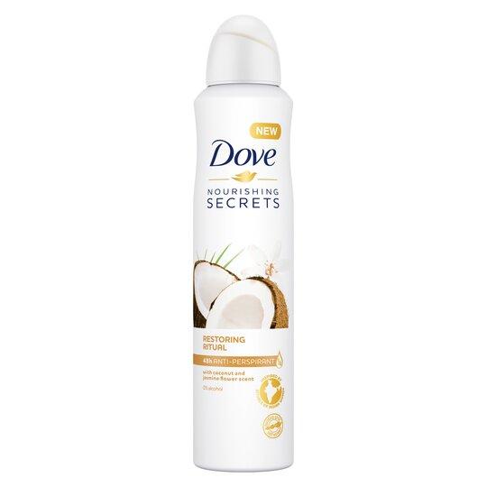 image 1 of Dove Nourishing Secret Antiperspirant Deodorant Coconut & Jasmine 250Ml