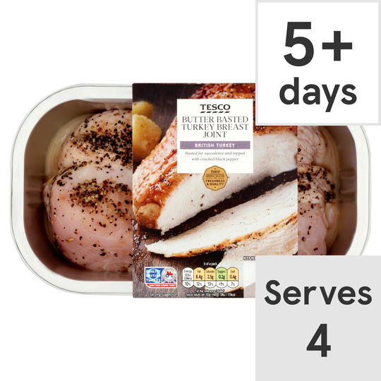 Tesco Butter Basted Turkey Breast Joint 640G