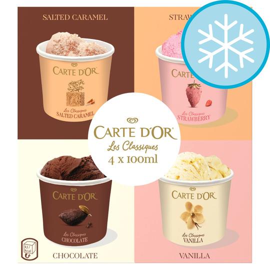 Carte D'or Classics Multipack Ice Cream 4 X 100Ml