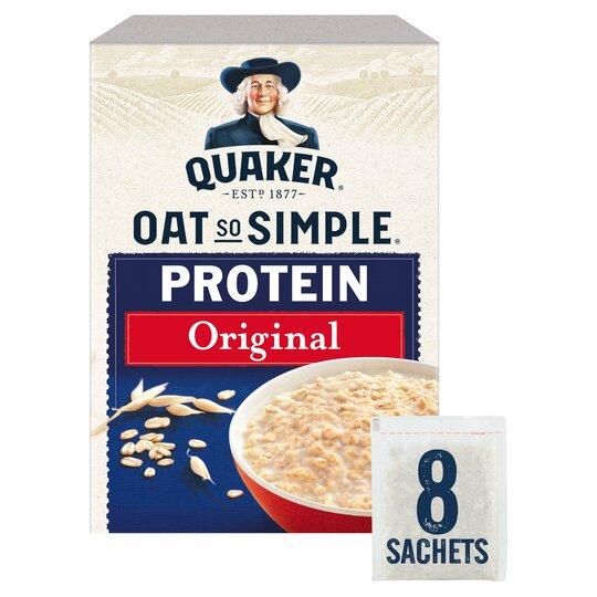 image 1 of Quaker Oat So Simple Protein Original Porridge 8Pk302g
