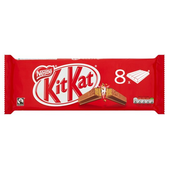 image 1 of Kit Kat Milk Chocolate Bar 4 Finger 41.5G X 8 Pack