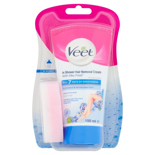 Veet In Shower Cream Sensitive 150ml Tesco Groceries