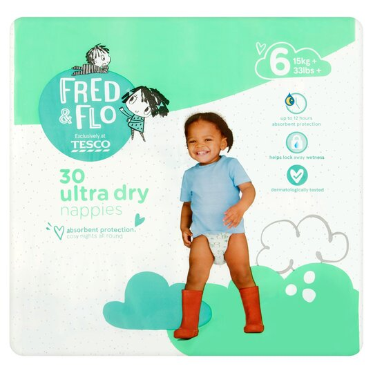 Fred & Flo Ultradry Size 6 30 Pack