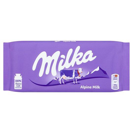 Milka Alpine Chocolate Bar 100g Tesco Groceries