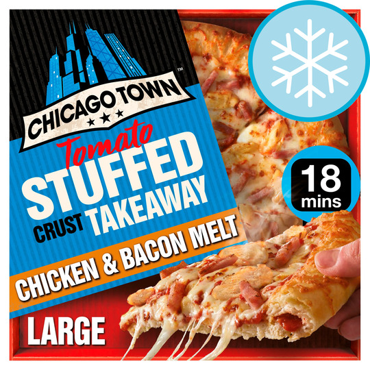Chicago Town Stuffed Crust Chicken & Bacon Large Pizza 640G