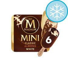 image 1 of Magnum Mini Classic Almond & White 6 Pack 330Ml