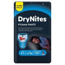 image 1 of Dry Nites Pyjama Pants Age 4-7 Blue Jumbo 16Pk