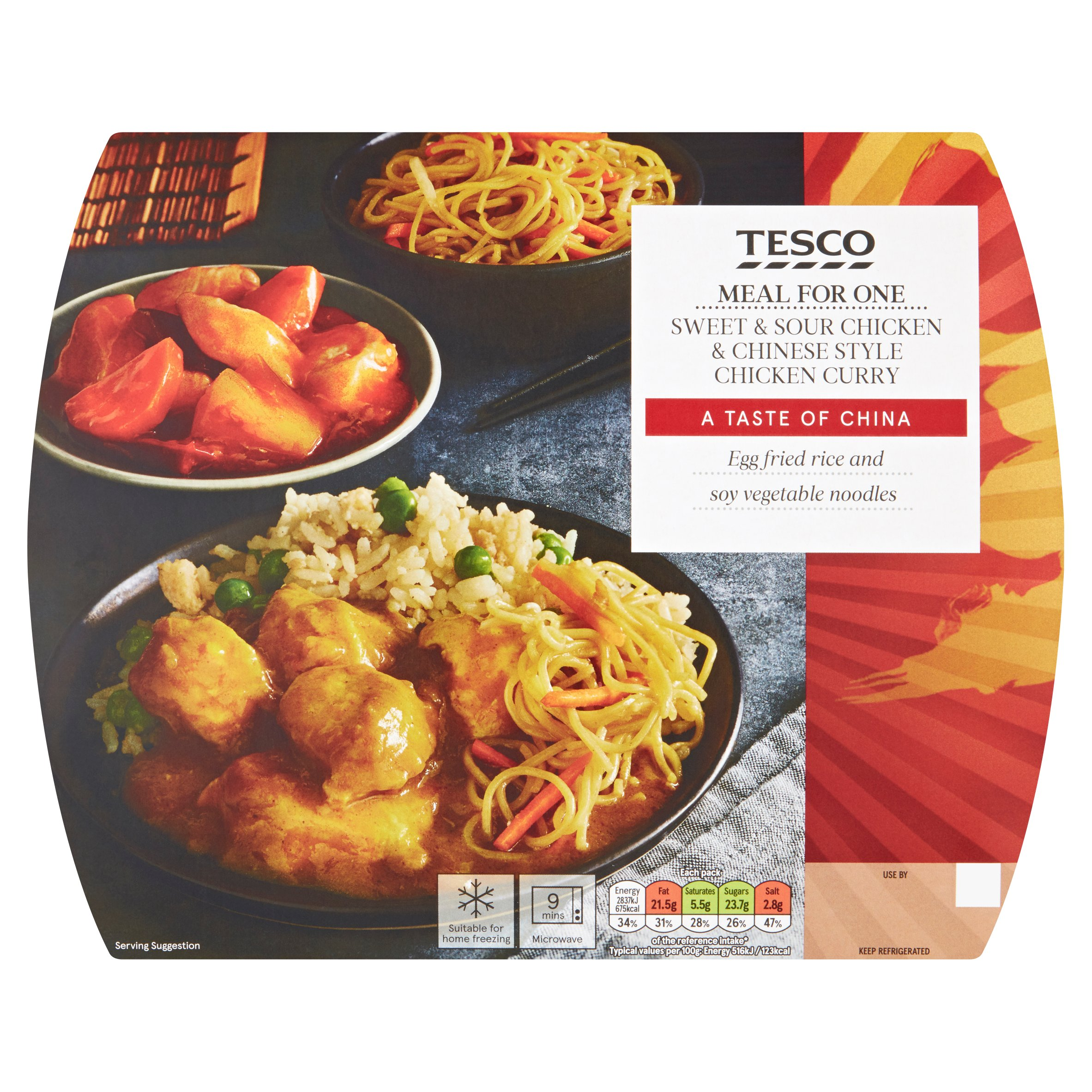 Tesco Sweet & Sour Chicken Chinese Style Chicken Curry 550G