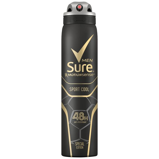 image 1 of Sure Men Sport Cool Antiperspirant Deodorant 250Ml