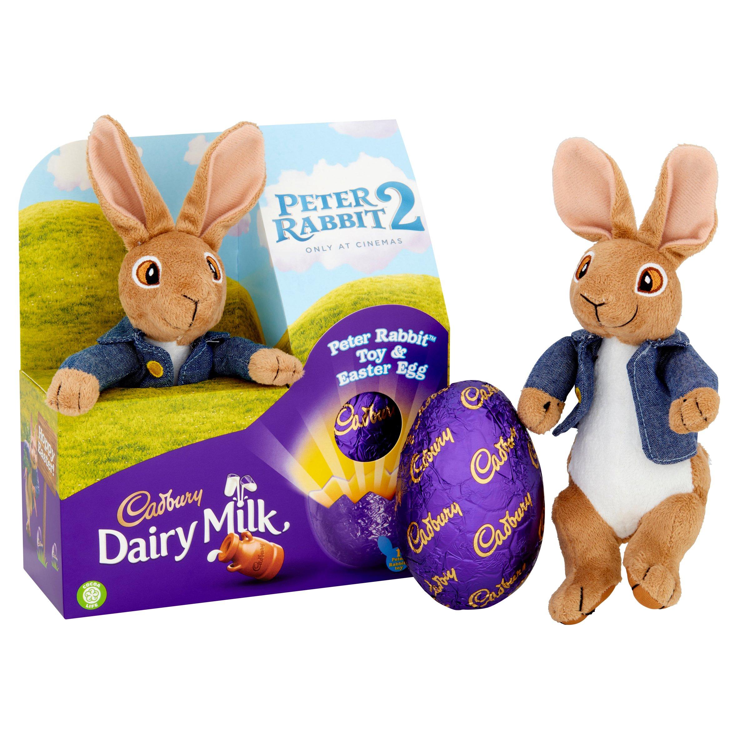 2 x Cadburys Peter Rabbit Soft Toys Plush