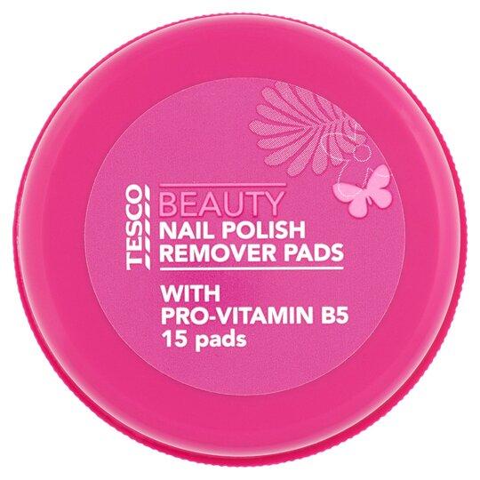 Tesco Nail Polish Remover Pads 15'S