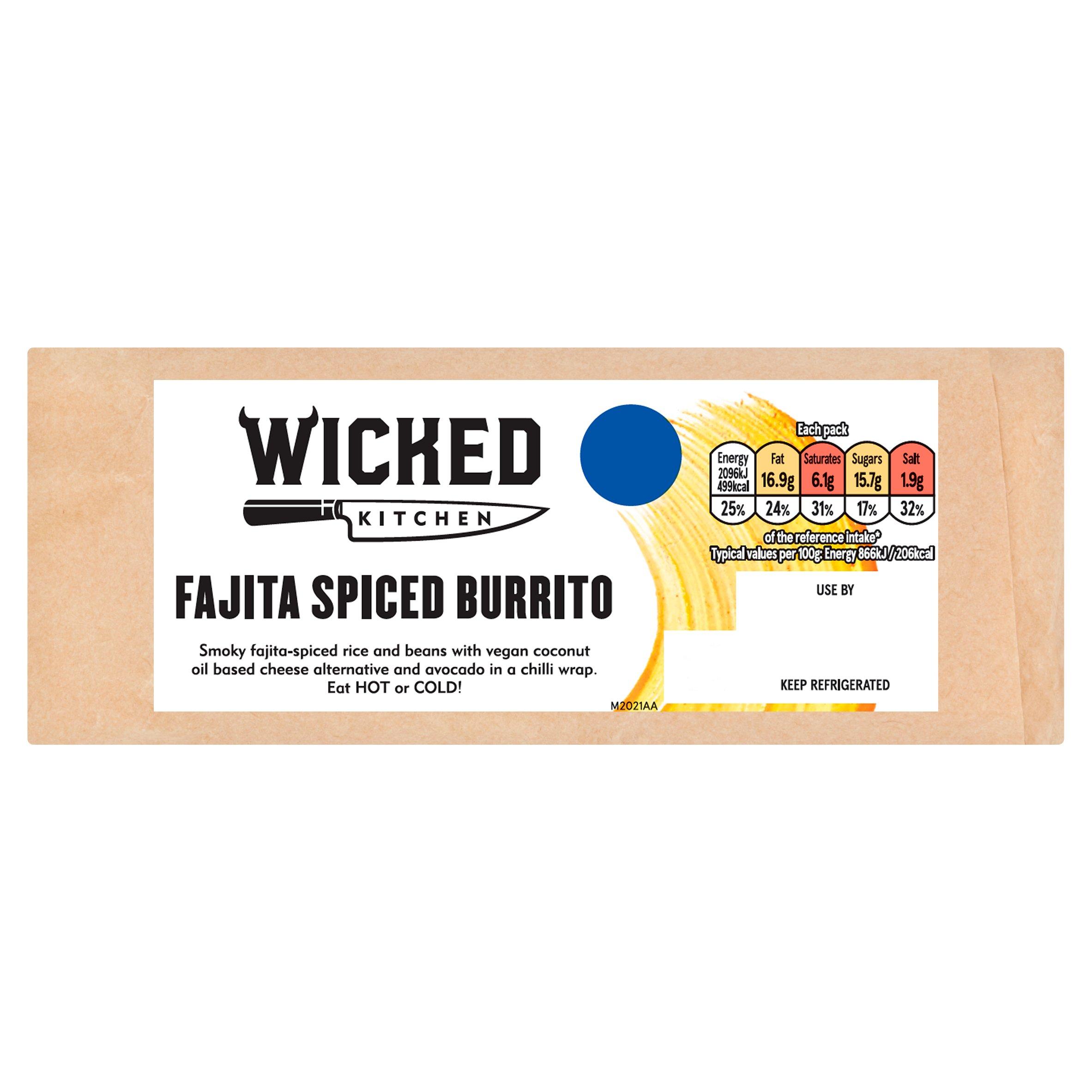 Wicked Kitchen Fajita Spiced Burrito
