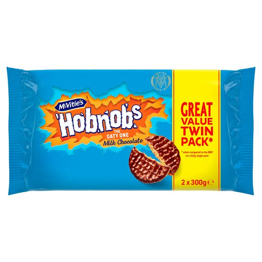 Mcvitie's Hobnob Milk Chocolate Biscuit 2 X 300G
