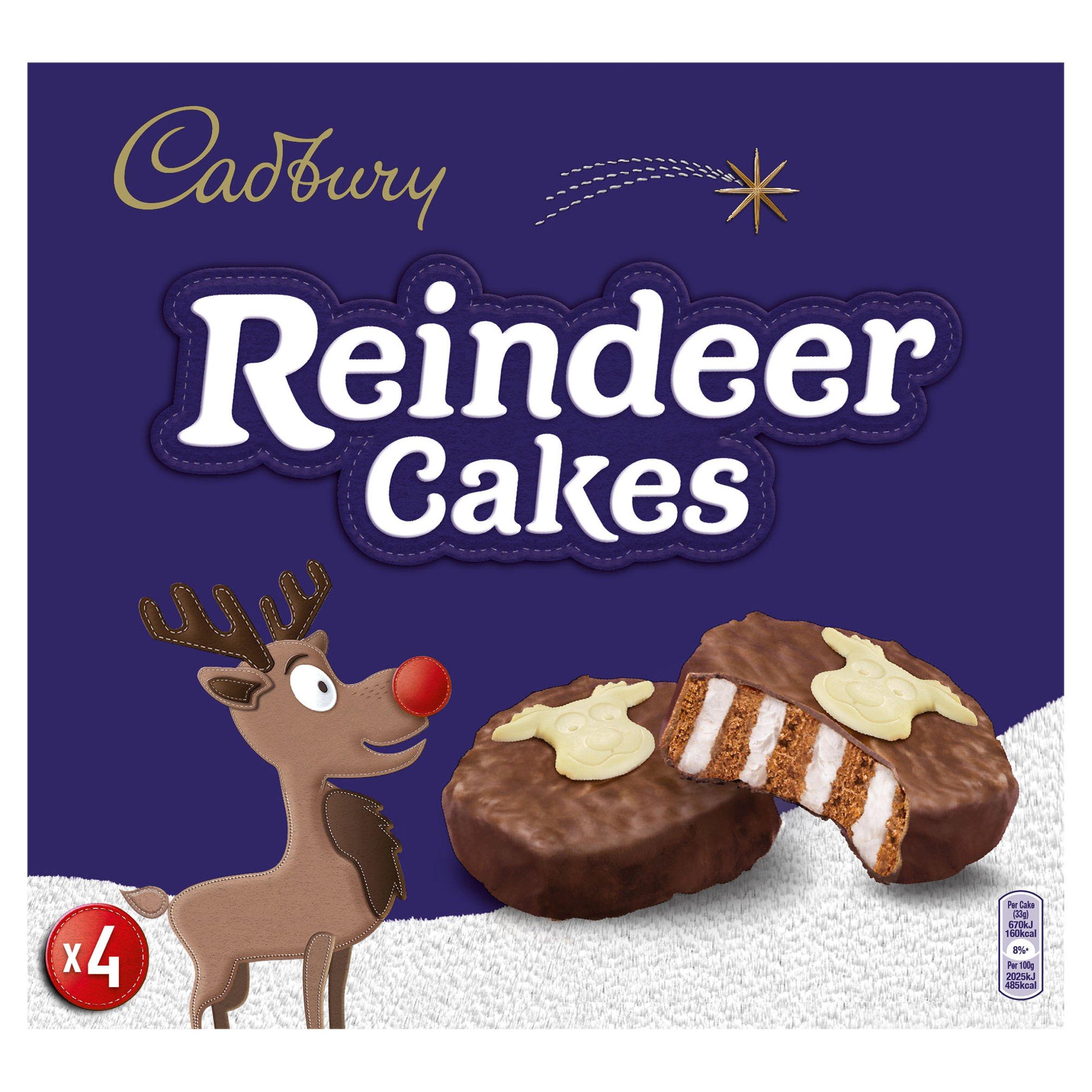Cadbury Reindeer Cakes 4 Pack