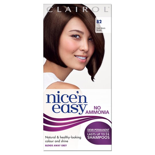 Nice'n Easy No Ammonia Dark Warm Brown 82 Hair Dye