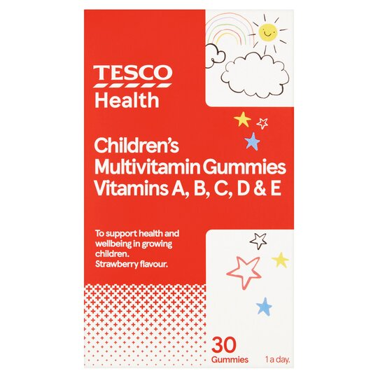 Tesco Childrens Jelly Vitamins Acde S/Berryx 30
