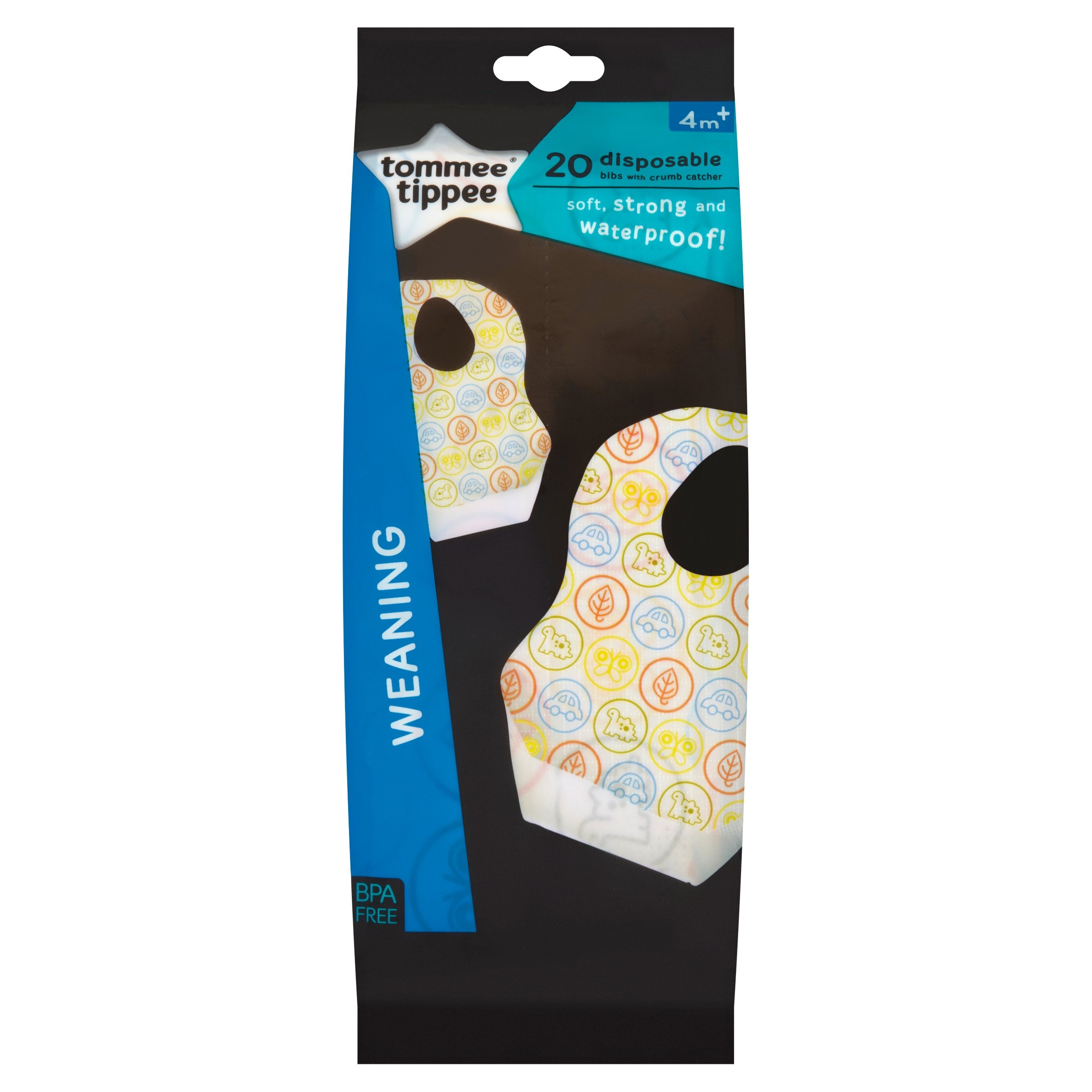 Tommee Tippee Disposable Baby Bibs For Weaning Two Packs Of 20 BPA FREE