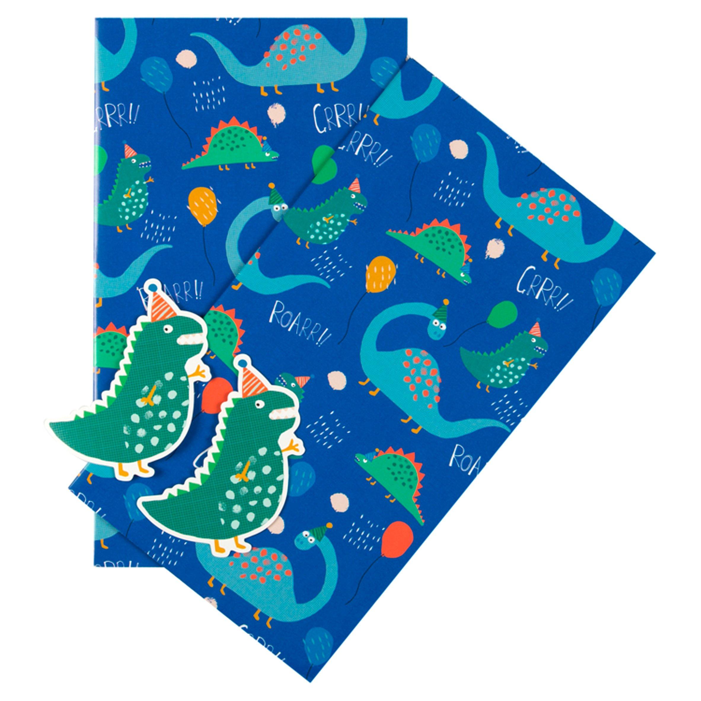 Tesco Gift Wrap 2 Sheets /& 2 Tags