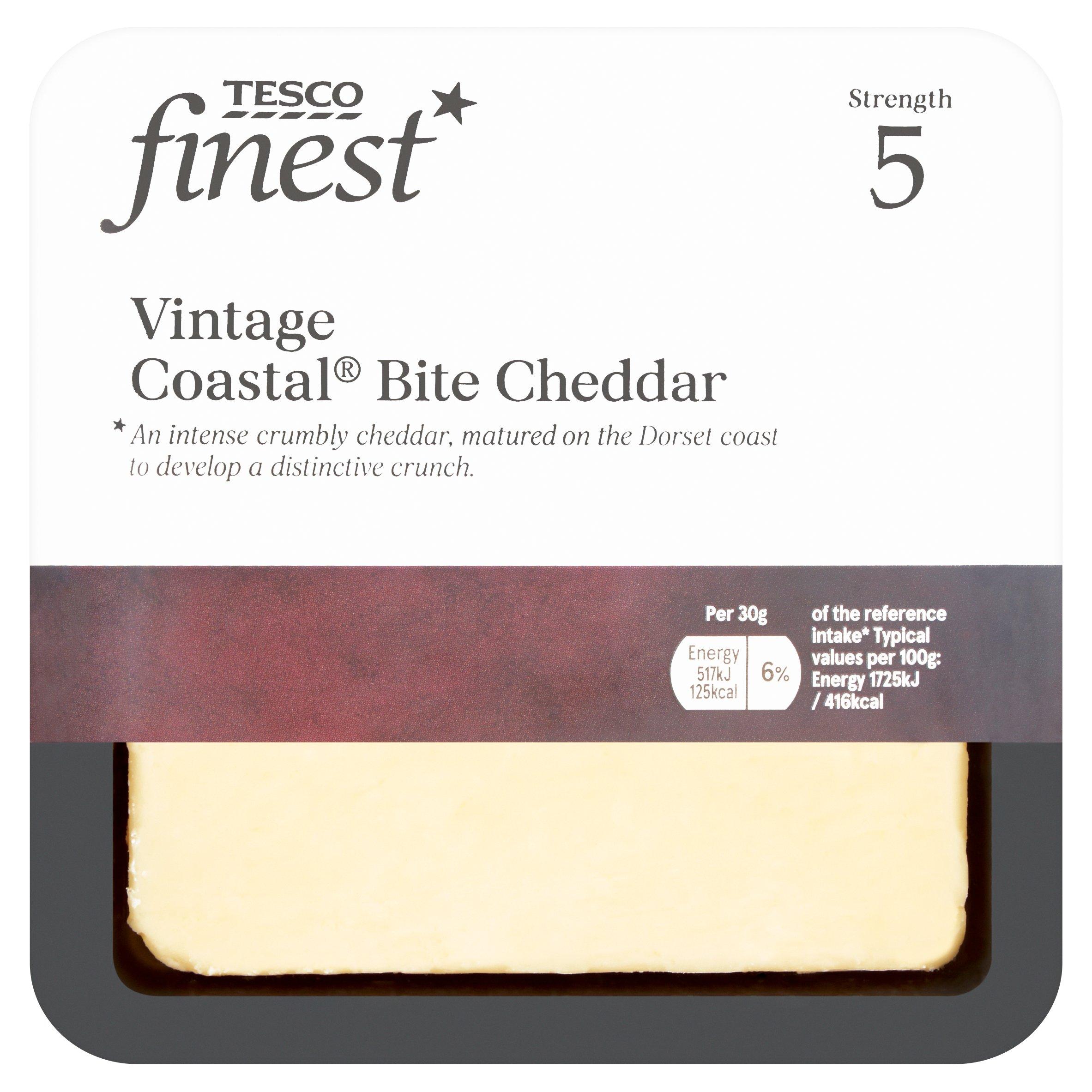 Tesco Finest Vintage Coastal Bite Cheese 200G