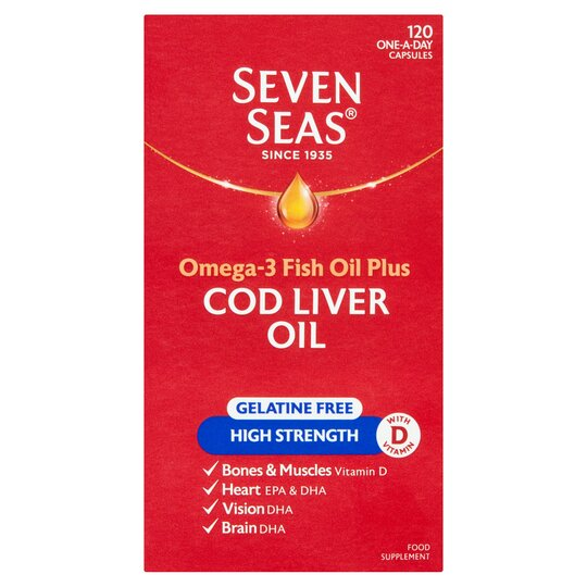 Seven Seas One A Day High Strength Cod Liver Oil 120'S