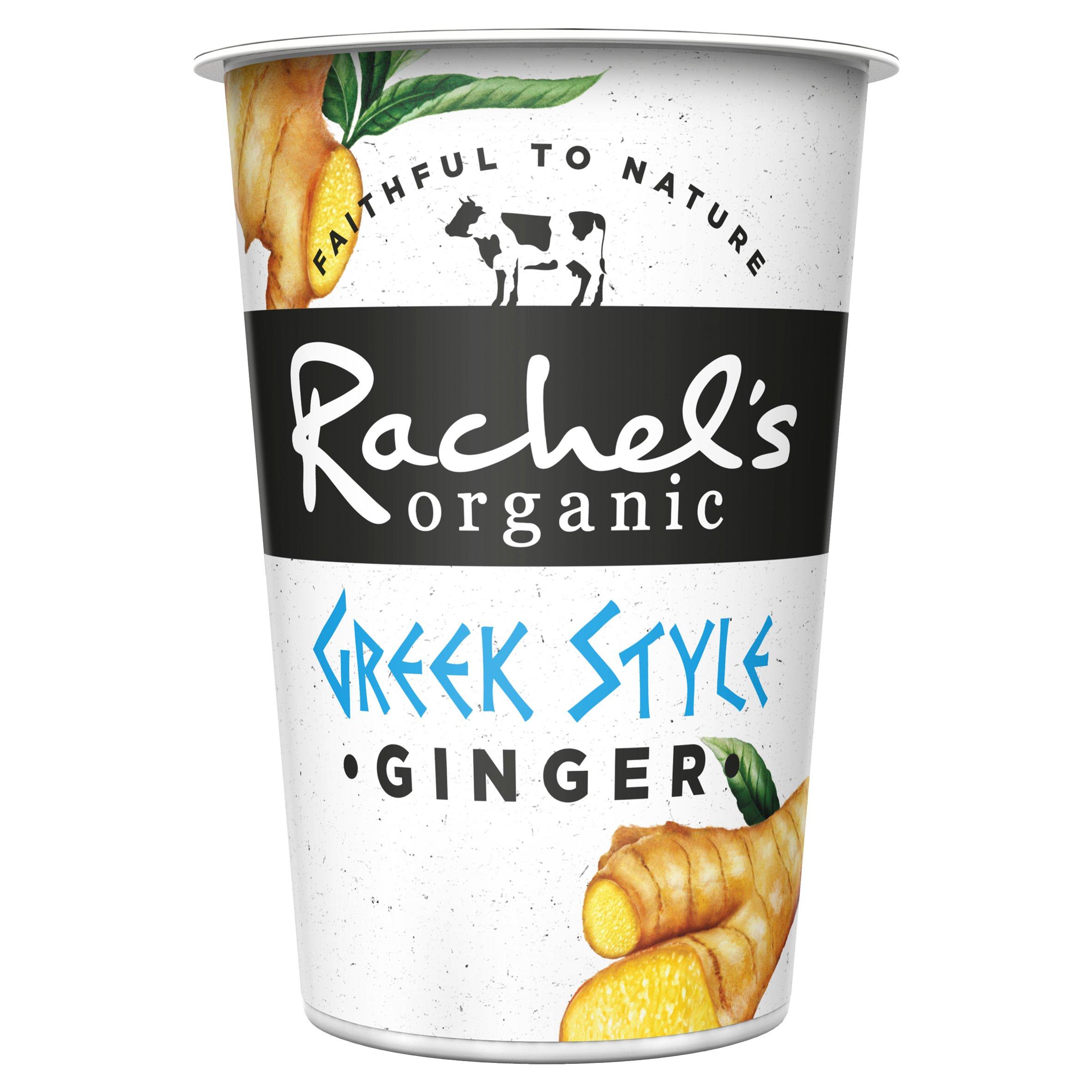 Rachel's Organic Greek Style Ginger Yogurt 450G