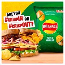 image 2 of Walkers Salt & Vinegar Multipack Crisps 12X25g