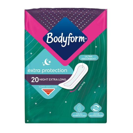 Bodyform Extra Protection Night 20 Pack