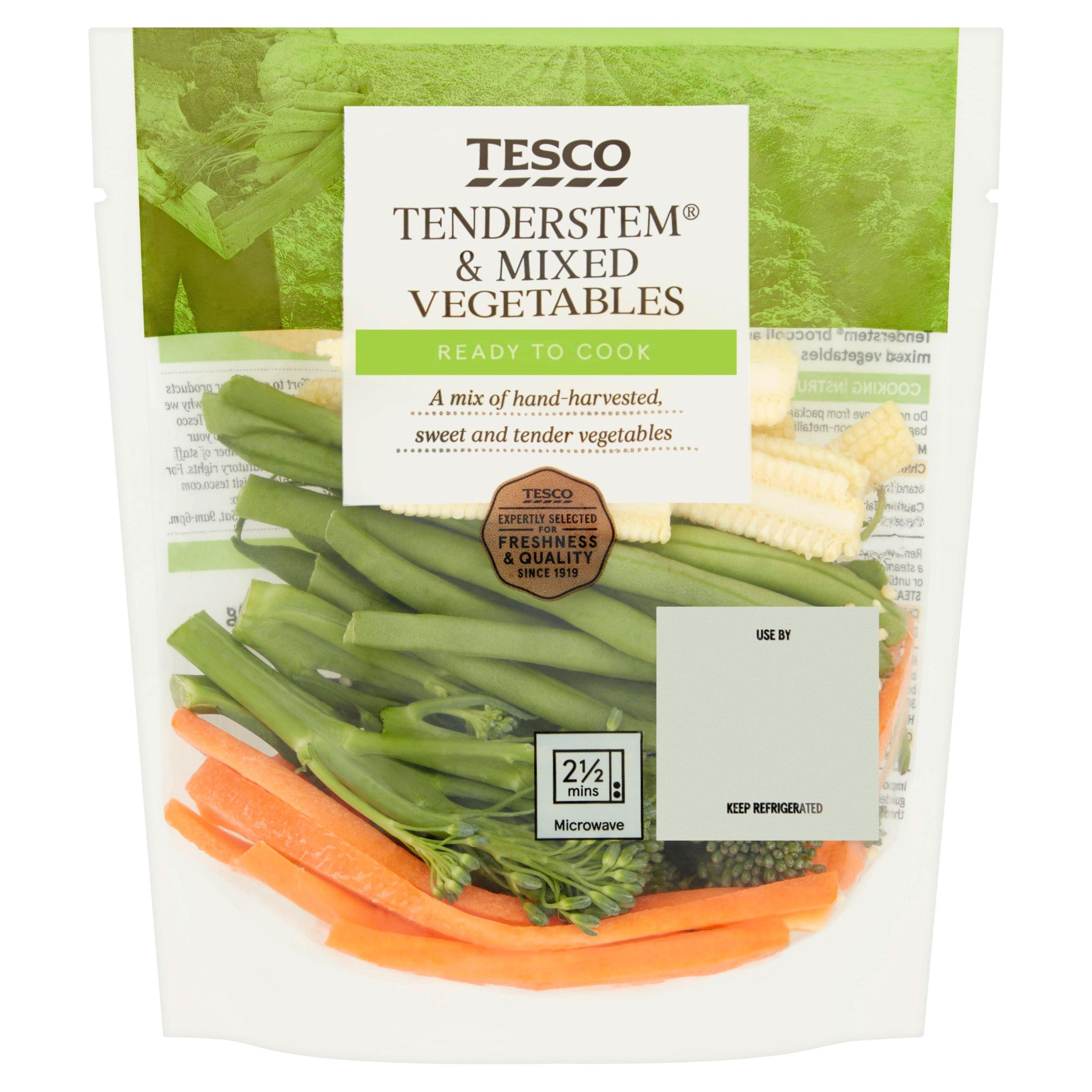 Tesco Tenderstem & Mixed Vegetables 160G
