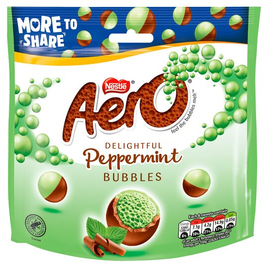 Aero Milk Chocolate Peppermint Bubbles 201G