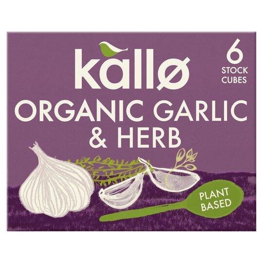 Kallo Organic Stock Cubes Garlic/Herb 66G