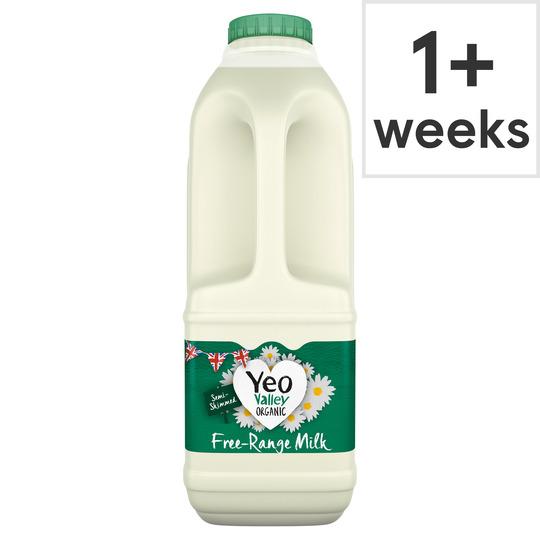 Yeo Valley Organic Semi Skimmed Milk 1L