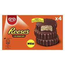 image 3 of Reese's Peanut Butter Ice Cream Cups 4 Pack 280Ml