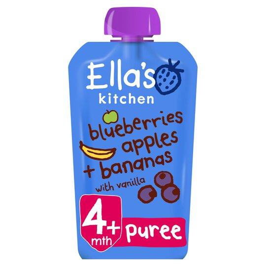 Ella's Kitchen Blueberry Apples Banana & Vanilla 120G